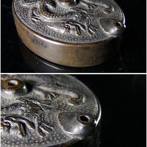 清代文房老铜水滴