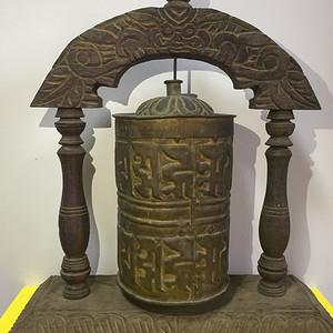 清代铜鎏金转经筒