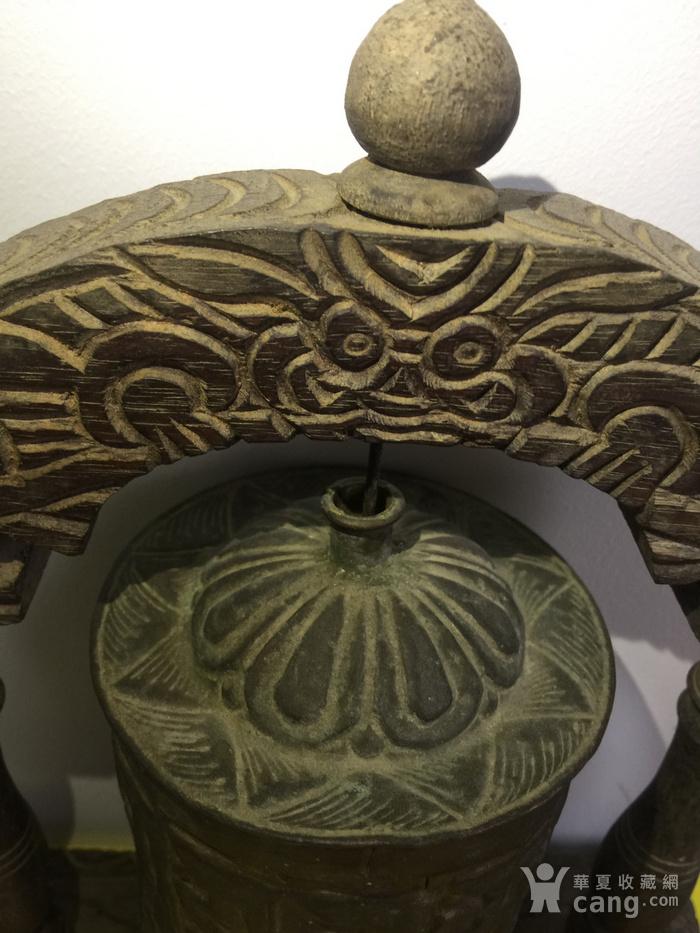 清代铜鎏金转经筒图5