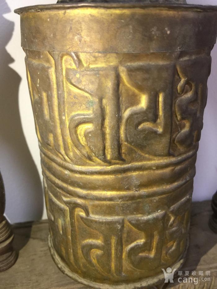 清代铜鎏金转经筒图4