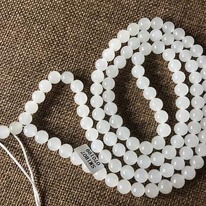 108颗和田羊脂白玉项链