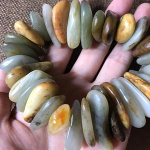 和田黄沁籽料原石手钏
