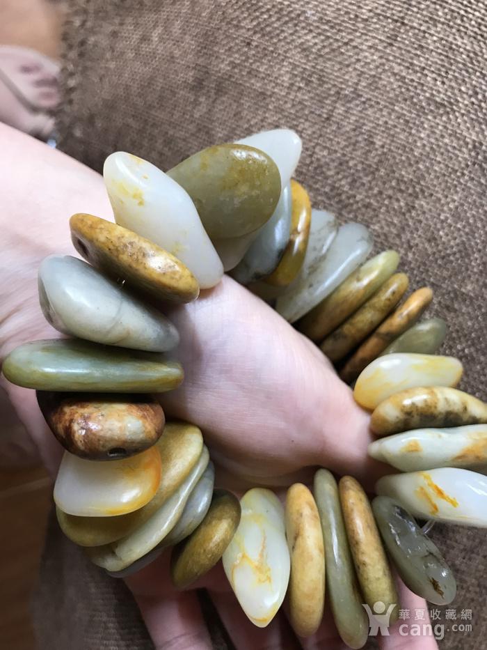 和田黄沁籽料原石手钏图5