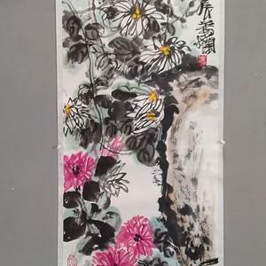 江苏省国画院画家 叶烂 大写意花鸟条幅