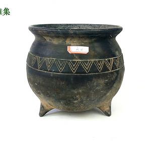站国 灰陶尊式罐