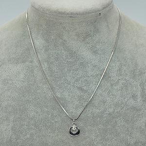 4.3克镶水晶吊坠项链