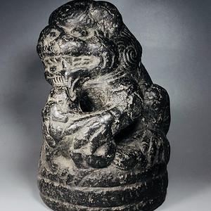 收藏级 镇宅辟邪之重器石雕珍宝 明代石狮