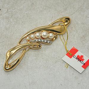 12.2克镶珍珠胸针