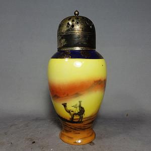 维多利亚时期丝绸之路绘画调料罐