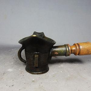 清代铜制烫斗