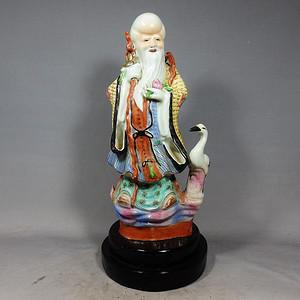 清代粉彩寿星塑像