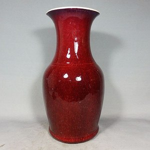 乾隆红釉赏瓶