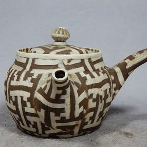 清代彩陶执壶