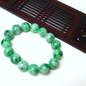 冰润飘绿圆珠手链