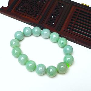 冰润绿圆珠手链