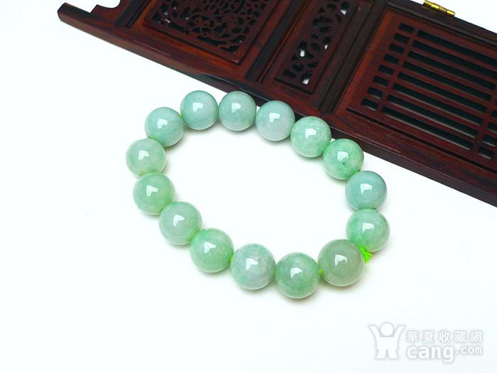 冰润绿圆珠手链图3