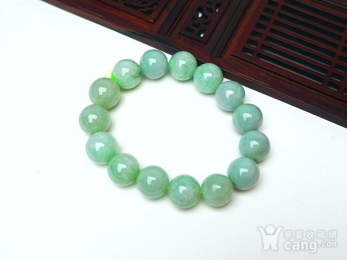 冰润绿圆珠手链图5