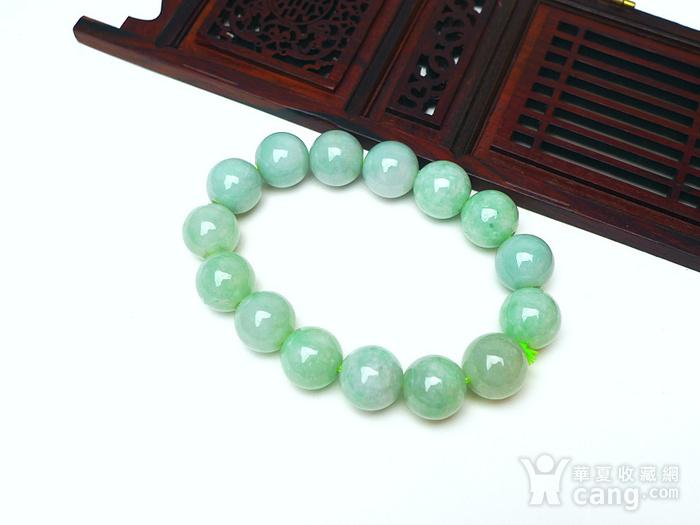 冰润绿圆珠手链图2