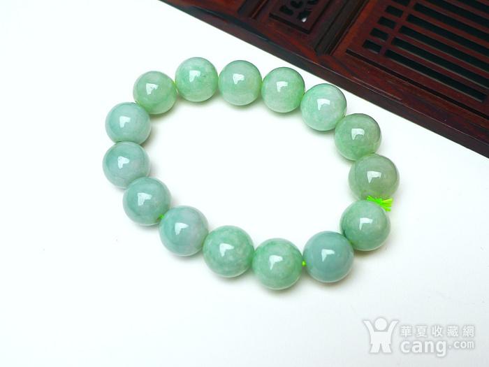 冰润绿圆珠手链图7