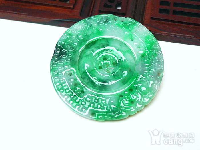 冰润满绿罗盘吊坠图5
