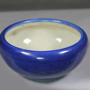 清乾隆霁蓝釉笔洗