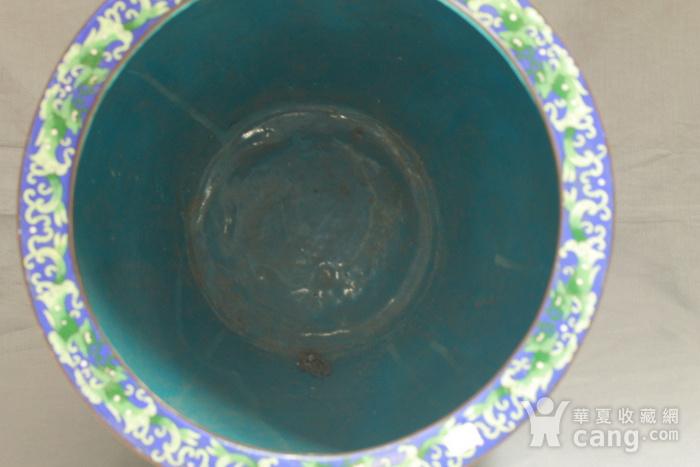 铜胎掐丝金玉满堂纹大画缸 带红木底座图10
