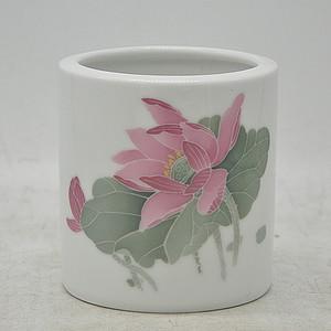 湖南醴陵国瓷研究所釉下彩笔筒