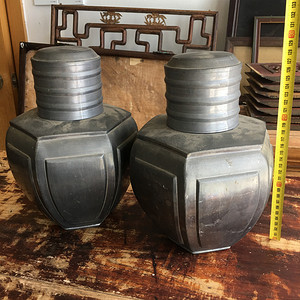 锡制六角型茶罐