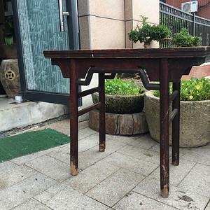 榉木圆腿画桌