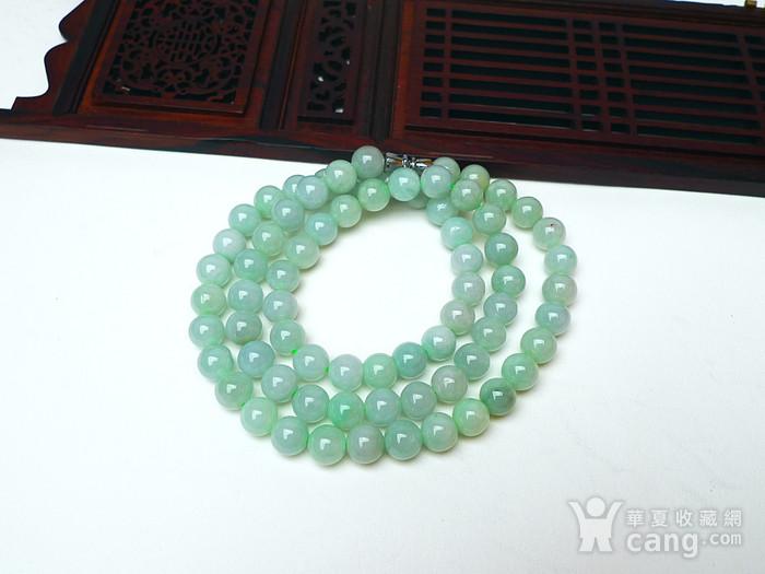 冰润绿圆珠项链图1