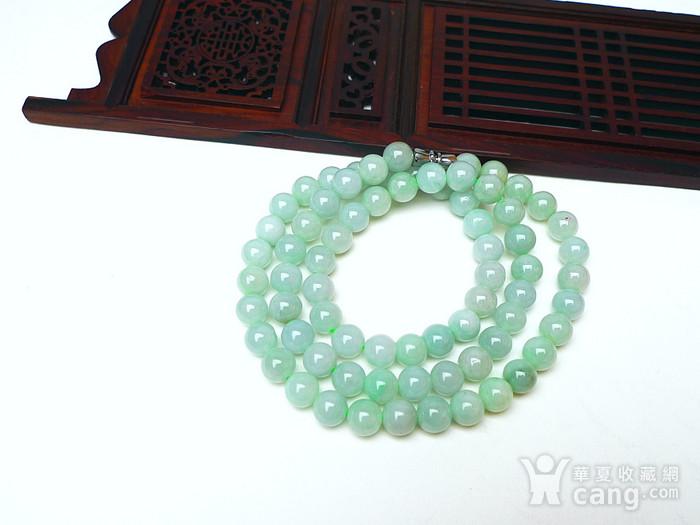 冰润绿圆珠项链图4