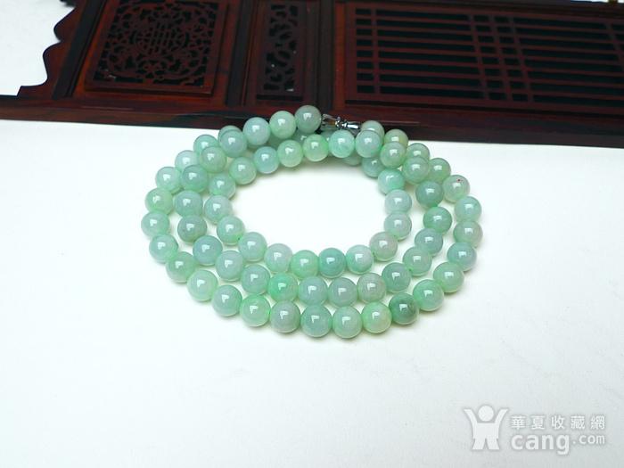 冰润绿圆珠项链图5