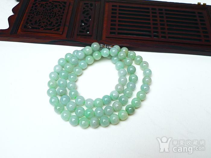 冰润绿圆珠项链图3