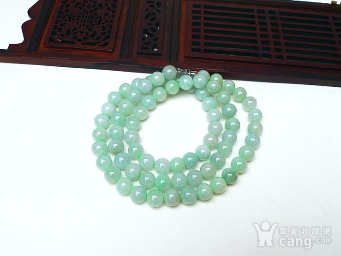 冰润绿圆珠项链图2