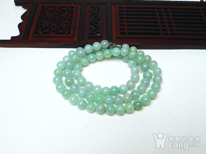 冰润绿圆珠项链图7