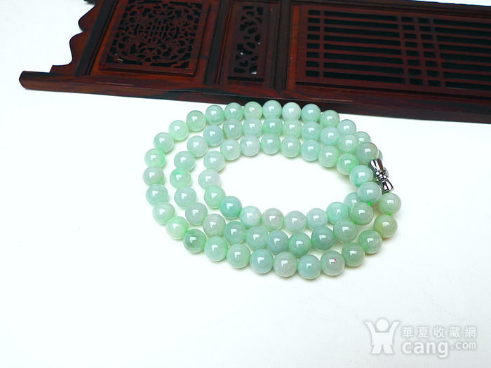 冰润绿圆珠项链图9