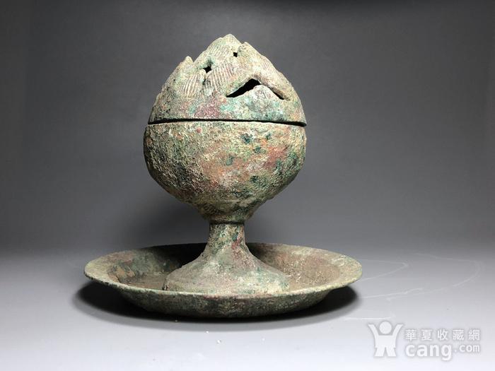 精品 收藏级青铜压轴 汉代青铜博山炉一件图6