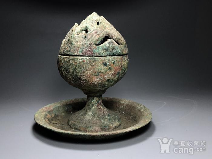 精品 收藏级青铜压轴 汉代青铜博山炉一件图2
