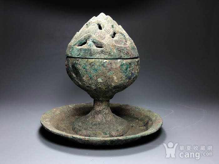 精品 收藏级青铜压轴 汉代青铜博山炉一件
