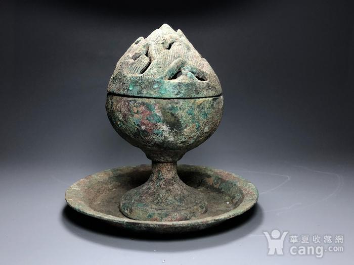 精品 收藏级青铜压轴 汉代青铜博山炉一件图4