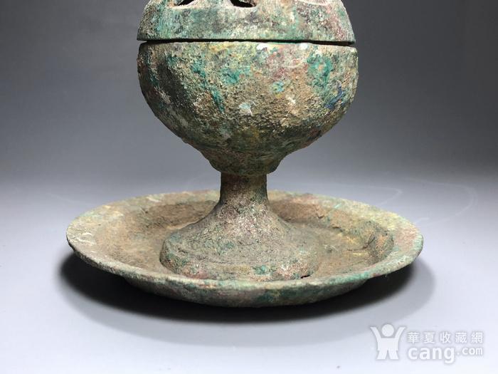 精品 收藏级青铜压轴 汉代青铜博山炉一件图7