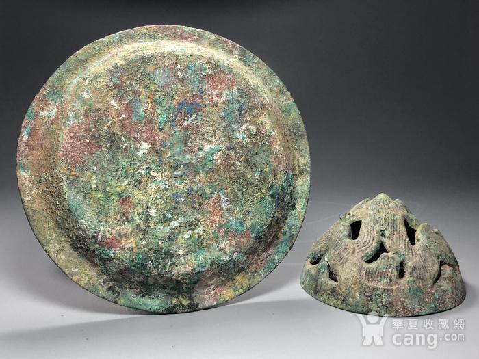 精品 收藏级青铜压轴 汉代青铜博山炉一件图10