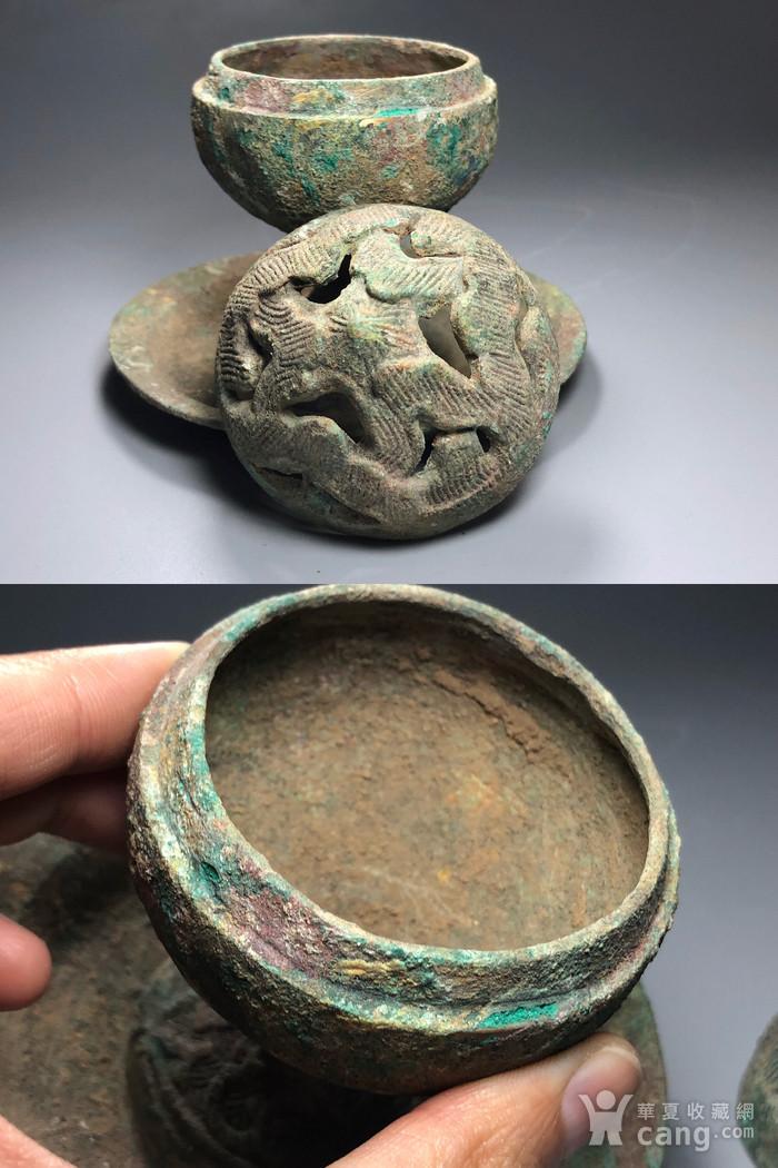 精品 收藏级青铜压轴 汉代青铜博山炉一件图12