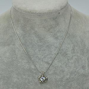 4.2克镶水晶吊坠项链