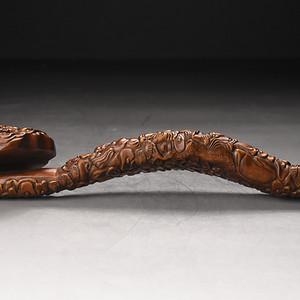联盟 旧藏小叶黄杨木雕八仙如意摆件