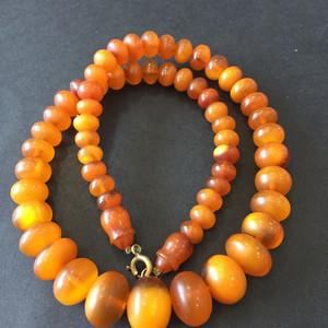 8127欧洲回流老蜜蜡玉米珠项链重约28克
