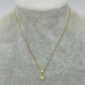 2克镶水晶吊坠项链