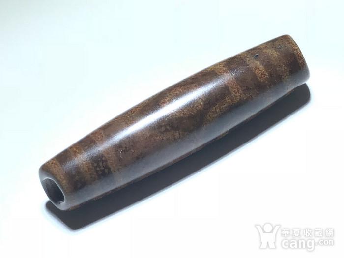 藏传 明代早期 满朱砂供 六眼天珠 包浆孔道 大开门 钥匙扣图8