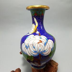 民国铜胎 掐丝珐琅 文玩赏瓶 釉色鲜艳