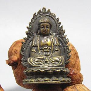 清老铜打造 佛祖带佛光 摆件 开门到代